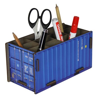 Blue Container Pen Box