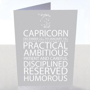 Capricorn Star Sign Card