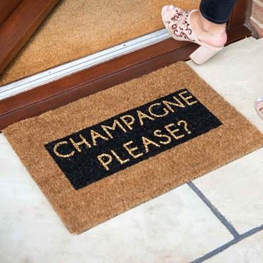 Champagne Please Doormat