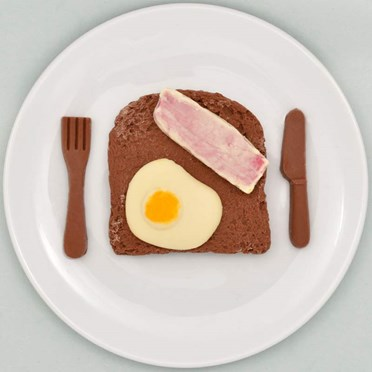 Chocolate Egg & Bacon on Toast