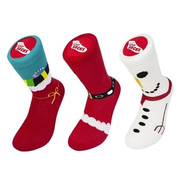 Set of 3 Christmas Socks
