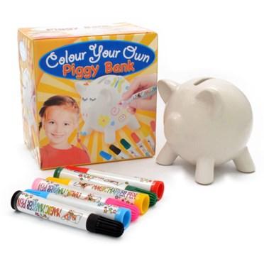 Colour Your Own Piggy Bank