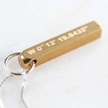 Coordinate Brass Pendant Necklace