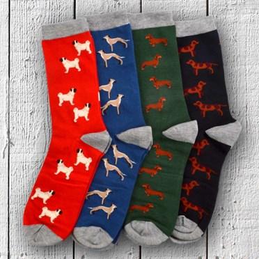 Dog Lovers Men's Bamboo Socks Gift Box Set