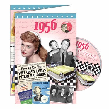 DVD Greeting Card 1956 or 60th Birthday