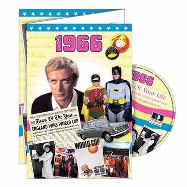 DVD Greeting Card 1966 or 50th Birthday