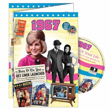 DVD Greeting Card 1967 or 50th Birthday