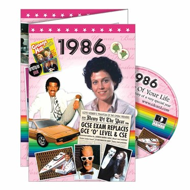 DVD Greeting Card 1986 or 30th Birthday