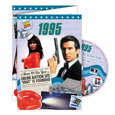 DVD Greeting Card 1995 or 21st Birthday
