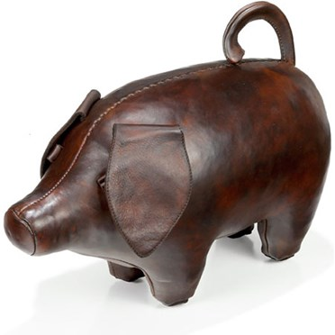 Handmade Leather Pig - Small