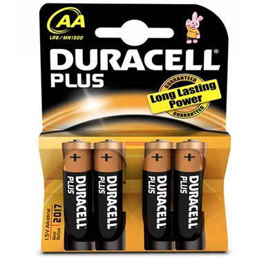 Duracell Batteries  AA Card of 4