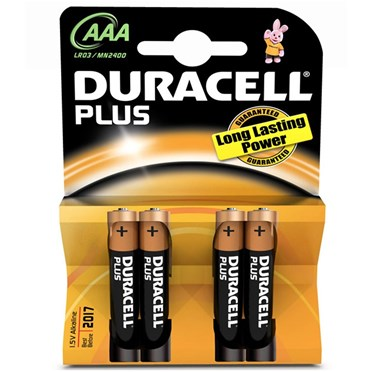 Duracell Batteries  AAA Card of 4