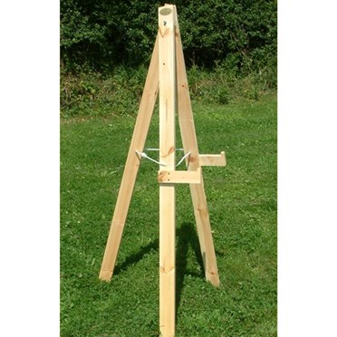 Archery Target Stand Plain wood