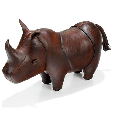 Handmade Leather Rhino - Small