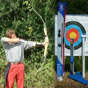 An image of Complete Professional Archery Kit with Wooden Bow