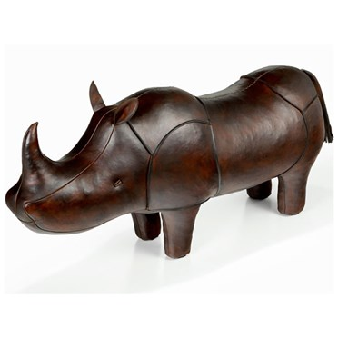 Handmade Leather Rhino - Large