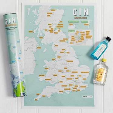 Great British Gin Scratch Off Poster