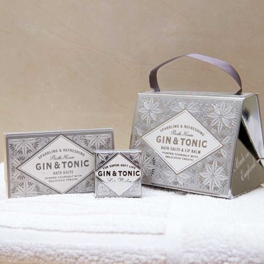 Gin & Tonic Lip Balm & Bath Salts Gift Handbag
