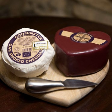 Godminster Cheese Duo Heart Box Set