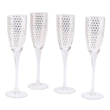 Totally Fabulous Sparkling Champagne Flutes