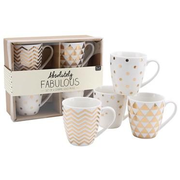 Totally Fabulous Sparkling Gold Mugs