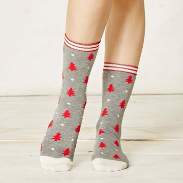Ladies Christmas Tree Bamboo Socks