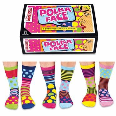 Ladies Polka Face Socks