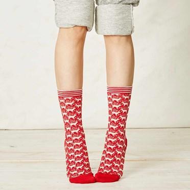 Ladies Reindeer Bamboo Socks