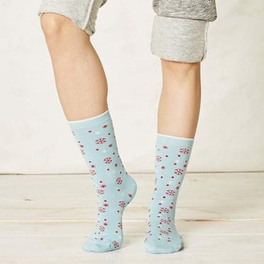 Ladies Snowflake Bamboo Socks