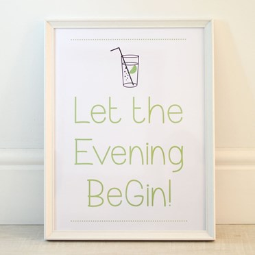 Let The Evening BeGIN! Framed Print