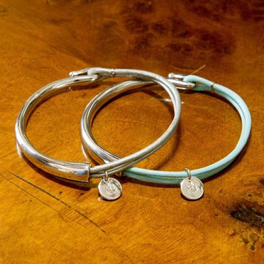 Lily Leather & Silver Hook Bracelet