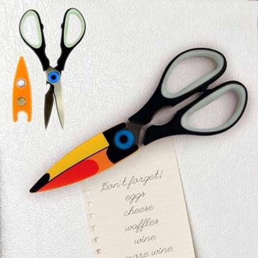 Magnetic Toucan Kitchen Scissors