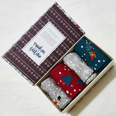 Men's Bamboo Festive Socks Gift Box