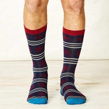 Men's Snowflake Bamboo Socks