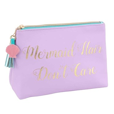 Mermaid Hair Don't Care Beauty Bag