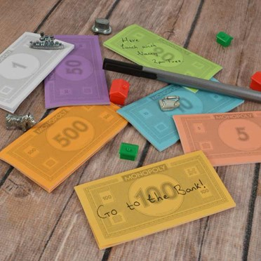 Monopoly Sticky Notes