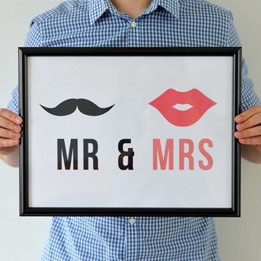 Mr & Mrs Framed Print