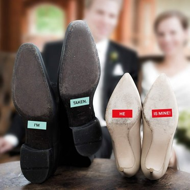 MR and Mrs Secret Love Shoe Stickers