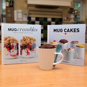 Mug Cakes Book, Mug Crumbles Book and Cake Cup Set
