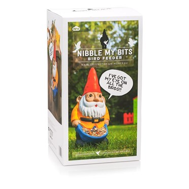 Naughty Garden Gnome Bird Feeder