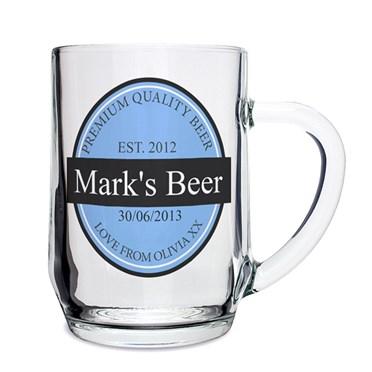 Personalised Beer Label Tankard