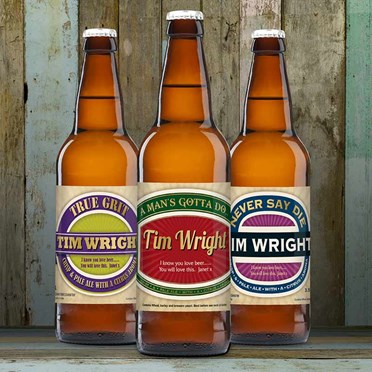 Triple Pack of Personalised Beer