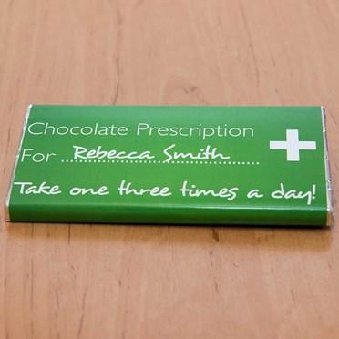 Personalised Chocolate Prescription Bar