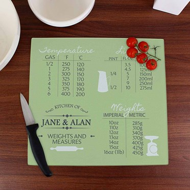 Personalised Conversions Glass Chopping Board