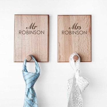 Personalised Couples Coat Hooks
