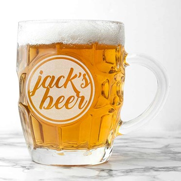 Personalised Dimpled Pint Glass