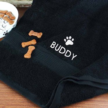 An image of Personalised Dog Towel | A soft yet durable dog towel