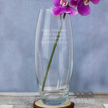 Personalised Glass Barrel Vase