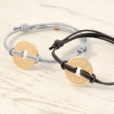Personalised Gold Engraved Bracelet