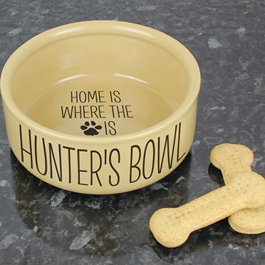 Personalised Home is Where The Heart is Dog Bowl